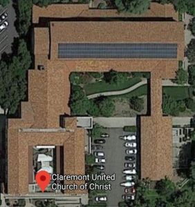 Aerial view of the solar panels installed on top of the Sanctuary.