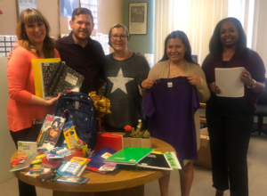 Claremont Presbyterian Church donating school supplies